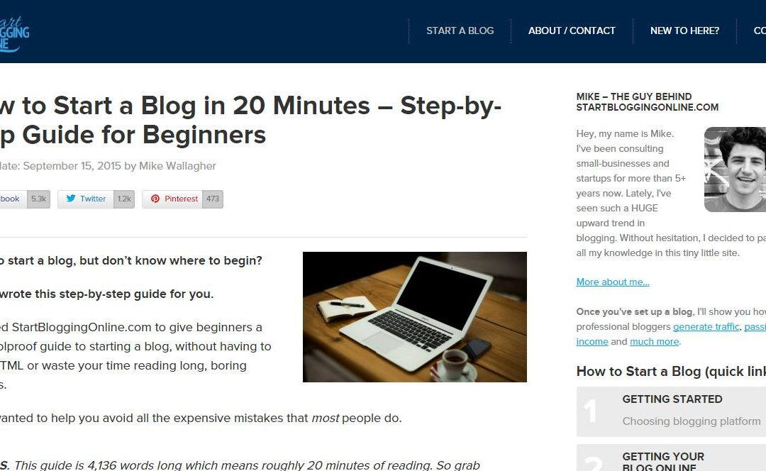 A Complete Beginner's Guide To Starting A Blog