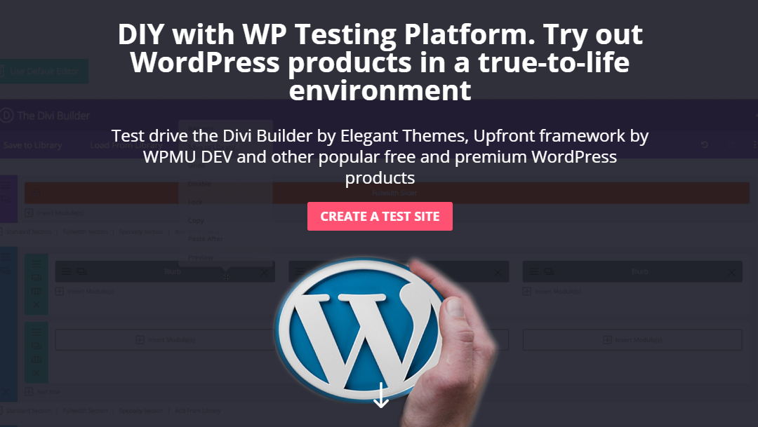 WordPress Testing Platform