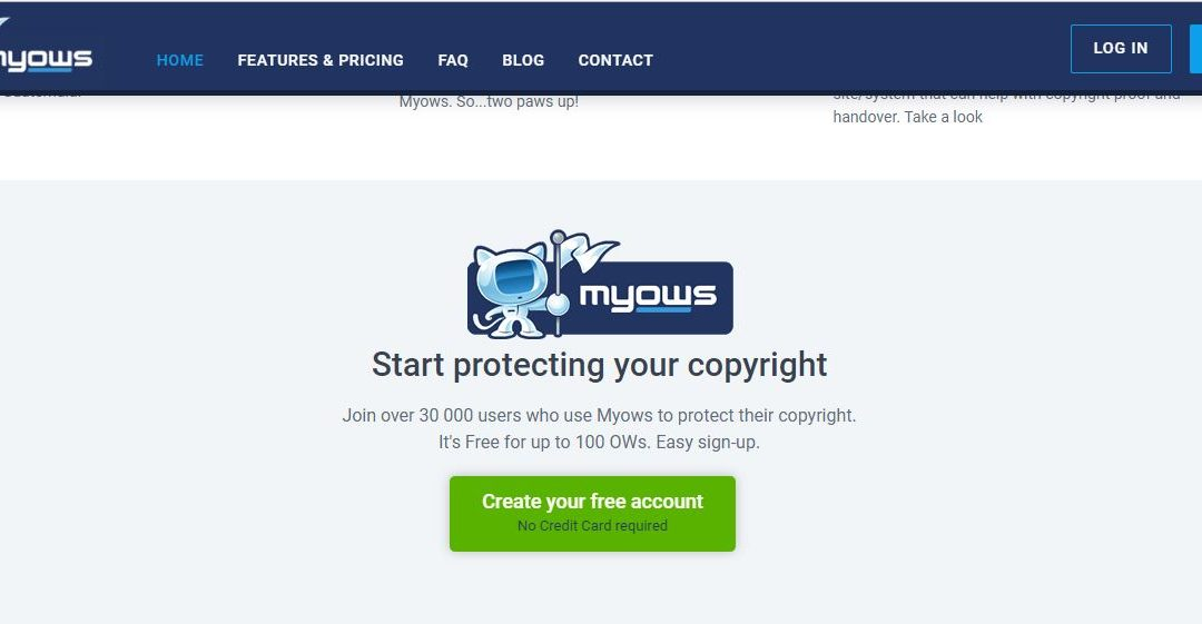 Myows – Free Copyright Protection Website