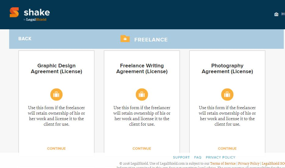 Shakelaw – Free Contracts for Designers & Freelancers
